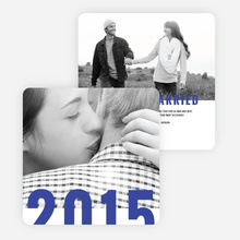 Milestone Year New Year Cards - Blue