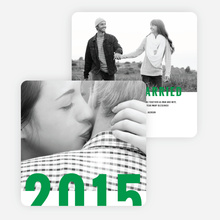Milestone Year New Year Cards - Green