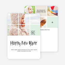 Mini Squares New Year Cards - Black