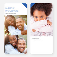 Modern Accent & Outlines Holiday Cards - Blue