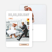 Modern and Whimsical Holiday Cards - Orange