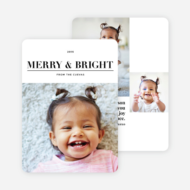 Modern Holiday Wishes Holiday Cards - Black
