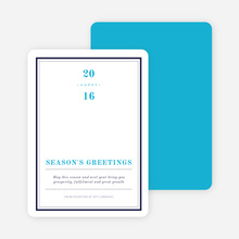 Modern & Professional Corporate Holiday Cards - Blue