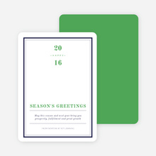 Modern & Professional Corporate Holiday Cards - Green