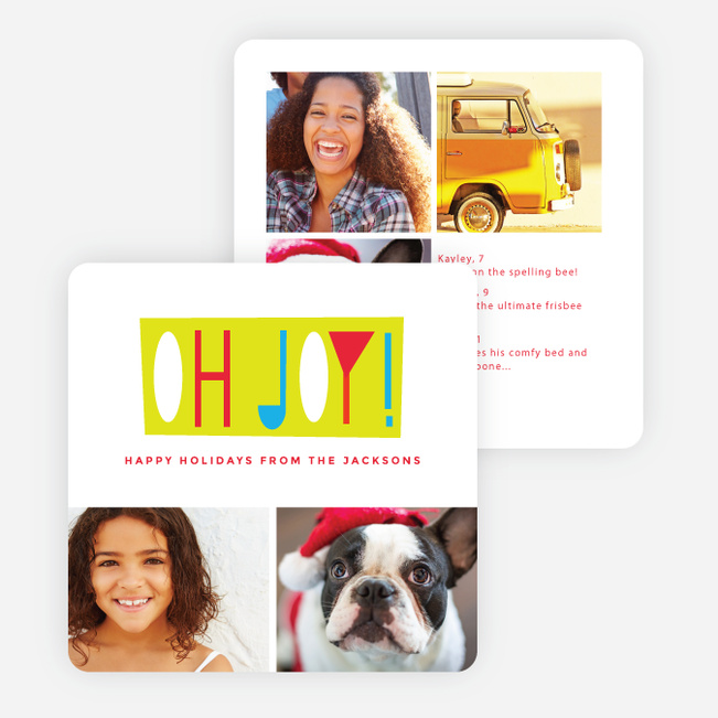 Oh Joy Holiday Cards - Red