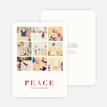 Peaceful Squares Holiday Cards - Multi