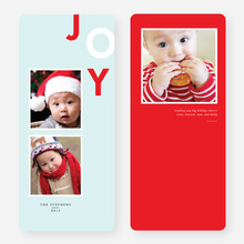 Playful Joy Holiday Cards - Red