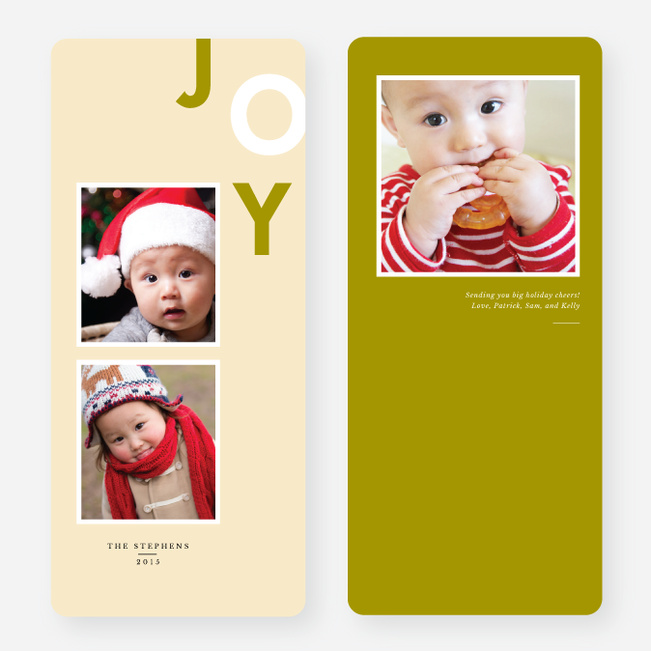 Playful Joy Holiday Cards - Yellow