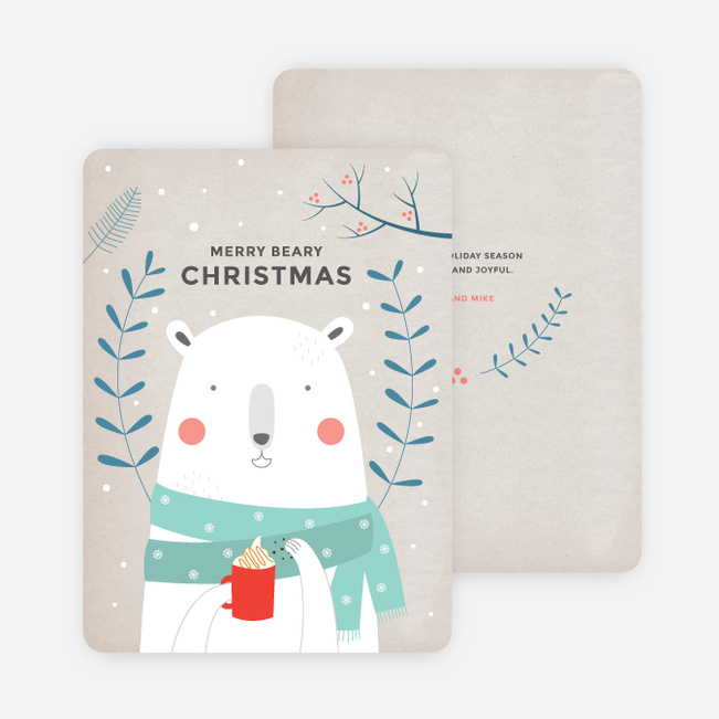 Retro Bear Holiday Cards - Multi