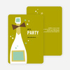 Retro Champagne Holiday Party Invitations - Green