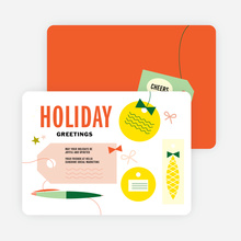 Retro Fun Gift Tag Holiday Cards - Multi