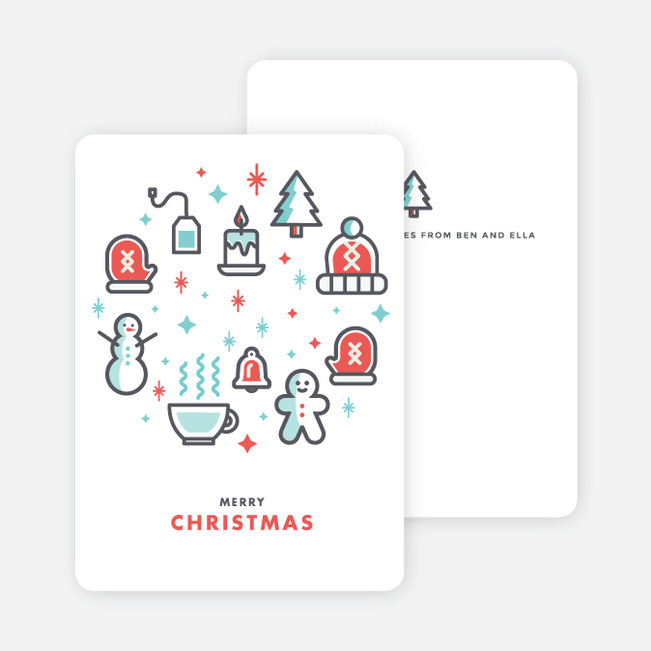 Retro Holiday Icon Christmas Cards - Multi