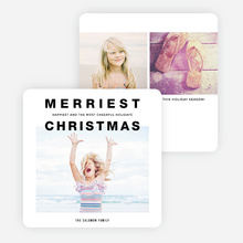 Screaming Message Christmas Cards - Black