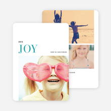 Simple Joy Holiday Cards - Blue