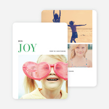 Simple Joy Holiday Cards - Green
