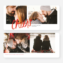 Simple Script Holiday Cards - Red