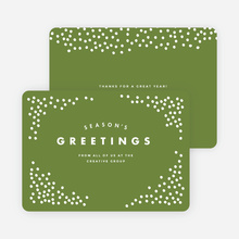 Snow Falling Corporate Holiday Cards - Green