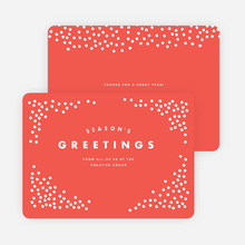 Snow Falling Corporate Holiday Cards - Red