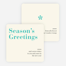 Snowflake Icon Corporate Holiday Cards - Blue