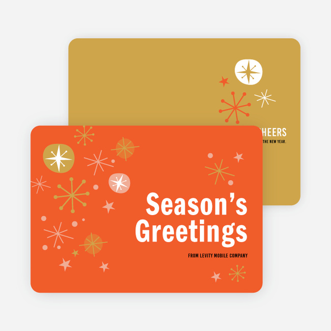 Snowflake Surprise Corporate Holiday Cards - Red