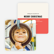 Split Color Christmas Cards - Red