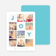 Square Joy Holiday Cards - Blue