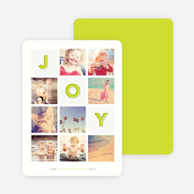 Square Joy Holiday Cards - Green