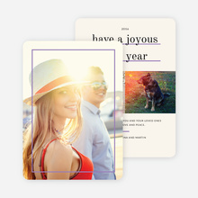 Standout Holiday Cards - Purple