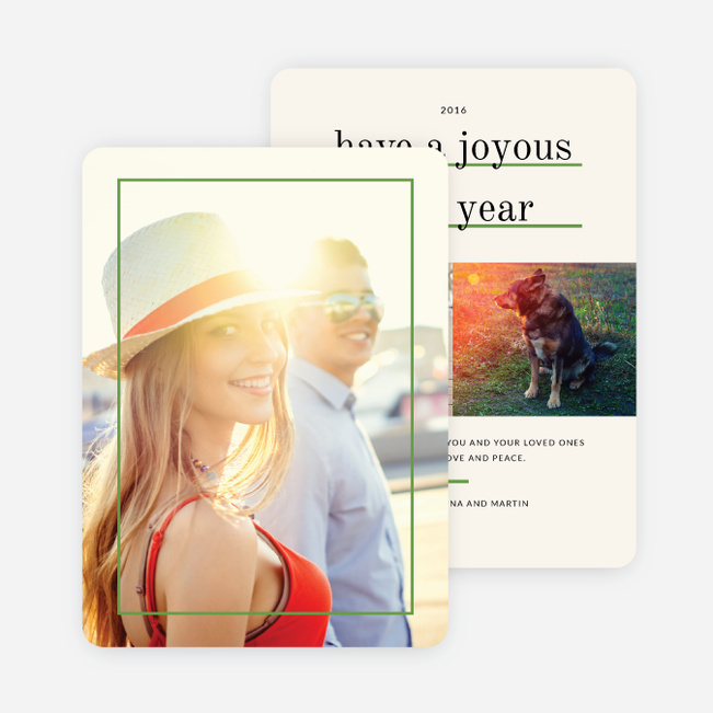 Standout Holiday Cards - Green