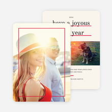 Standout Holiday Cards - Red