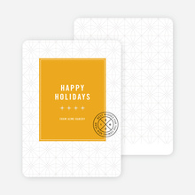 Stars & Ornaments Corporate Holiday Cards - Yellow