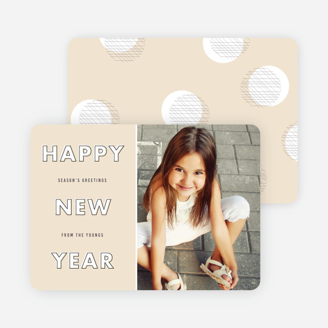 Stylized Type New Year Cards - Beige