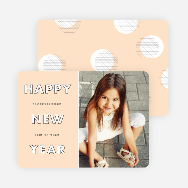 Stylized Type New Year Cards - Orange