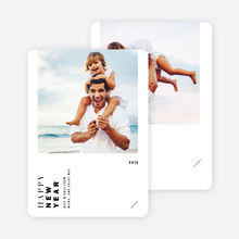 Vertical Type New Year Cards - Black