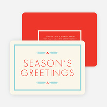 Winter Berries Corporate Holiday Cards - Red