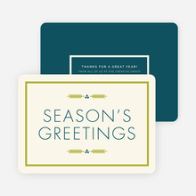 Winter Berries Corporate Holiday Cards - Blue