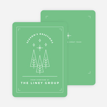Winter Trees Corporate Holiday Cards - Green