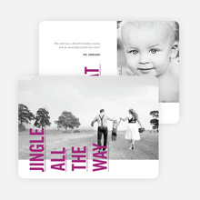 Sideways Text Christmas Cards - Purple