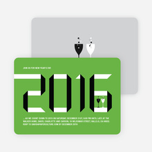 2010 New Year's Eve Party Invitations - Apple Green