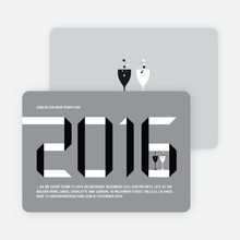 2010 New Year's Eve Party Invitations - Silver Grey