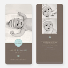 Circle Seal Holiday Birth Announcements - Blue