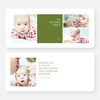 Colorful Blocks Holiday Photo Cards - Green