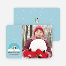 Frosty the Snowman and his Snow Globe Holiday Cards - Periwinkle Blue
