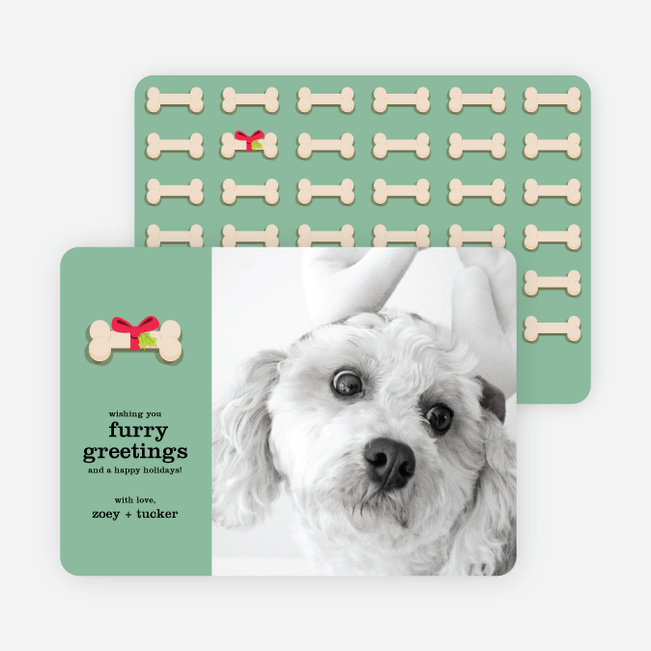 furry dog holiday cards paper culture - Pet Holiday Cards