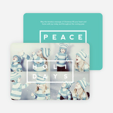 Holiday Block Photo Cards - Blue