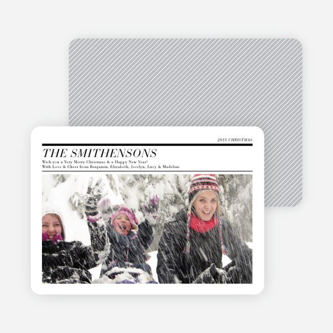 Holiday Newsletter Holiday Photo Cards - White
