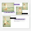 Holiday Tags Photo Cards - Purple