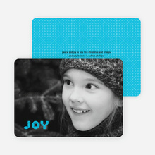 Joy Modern Holiday Photo Card - Sky Blue