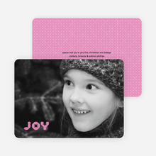 Joy Modern Holiday Photo Card - Magenta