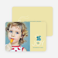 Magical Joy Holiday Photo Card - Teal